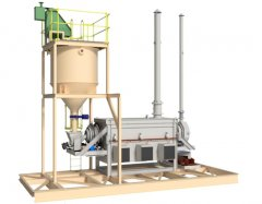 3D Model of the 100 kg/h Diesel Fired Carbon Regeneration Kiln c/w Carbon Holding Hopper